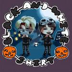 Eunhyuk Donghae Sleketons Happy Halloween chibi by AddyBarabashkaLee