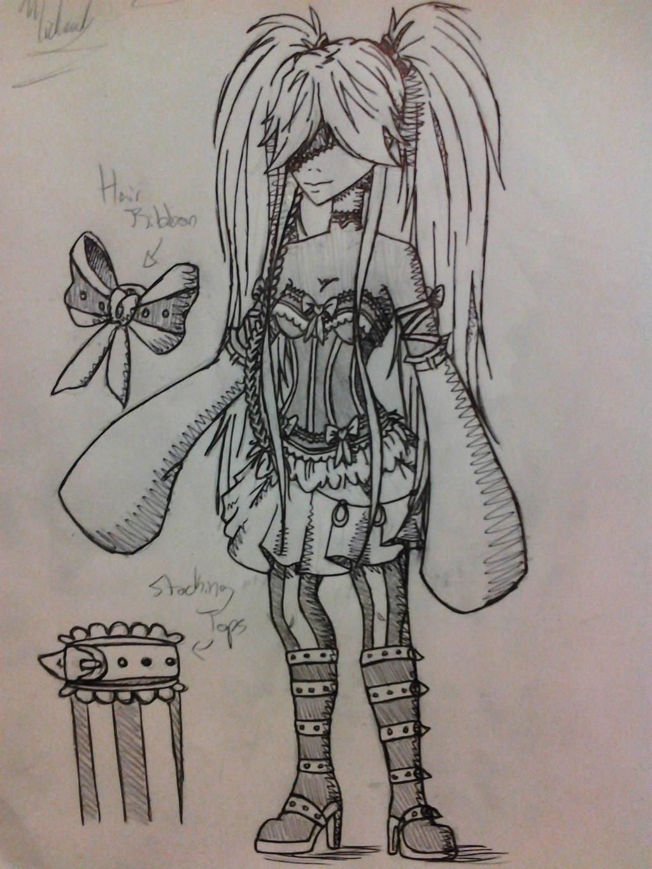 Fem Undertaker cosplay sketch by lune-brues