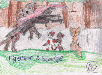 Tigerstar vs. Scourge by Acidlovewolf