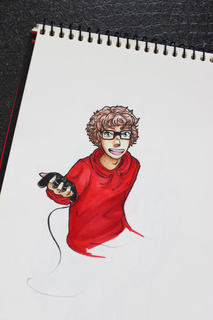 ''a dude in a red hoodie'' OC by DewberryART