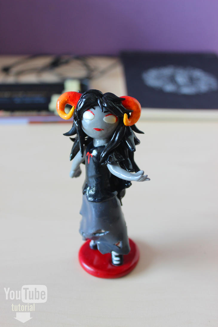 Homestuck | Aradia | Polymer clay | Tutorial by DewberryART