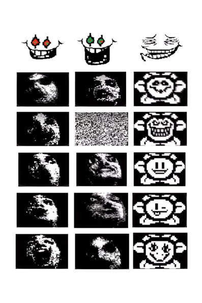flowey faces for the omega flowey sculpture by DewberryART