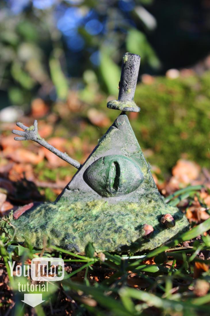 Bill Cipher statue - Polymer clay (Tutorial) by DewberryART
