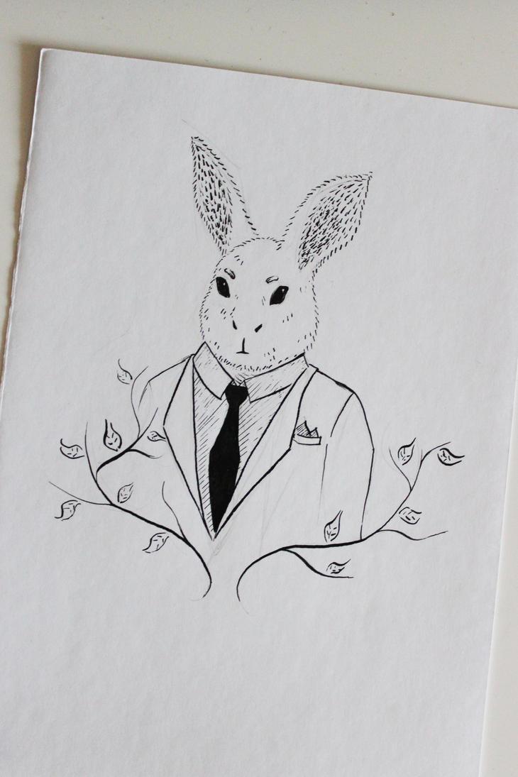 just a regular bunny by DewberryART