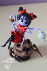 Undertale | Muffet | Polymer clay | Tutorial by DewberryART
