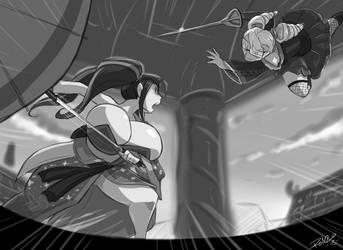 Soul Calibur Cosplay Fight by danteshadow1