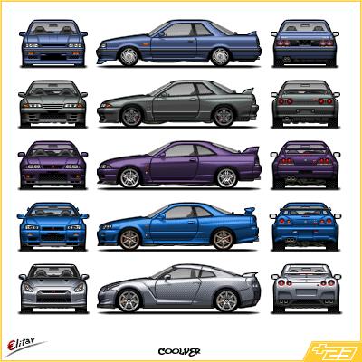 List Of Gt R S Pixel Cars By Megasxlrfan5 On Deviantart