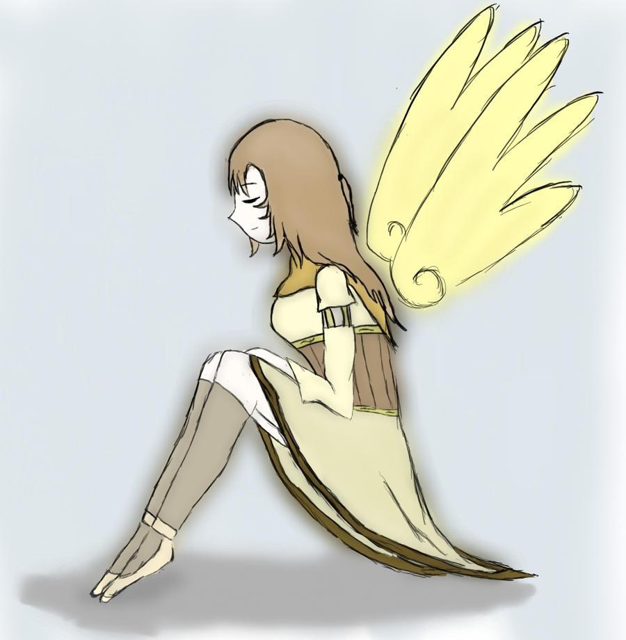 Girl with wings by RinkoKawaii on deviantART