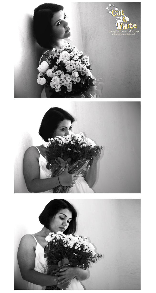 Miss V: Roses are White by Cat-n-White