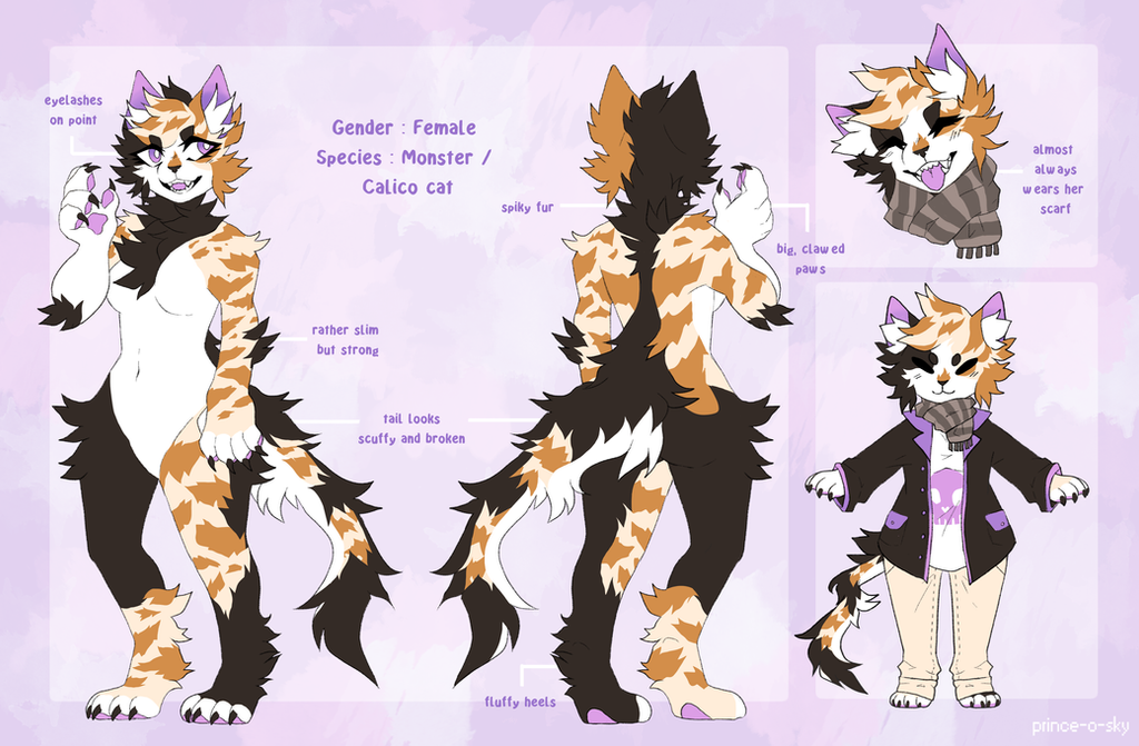 Calico Cat Custom Reference Sheet By Prince O Sky