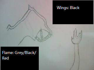 Char's Sketch: Wings and tail by Drawing-Forever