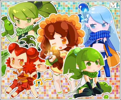 Plants VS Zombies:Plants girls by E09ETM