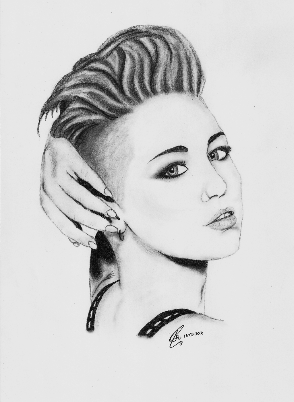 Miley Cyrus Black And White 2014