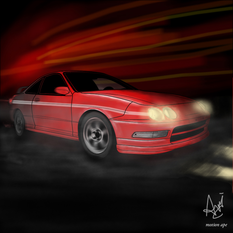 Red Acura Integra By Motionape On DeviantArt