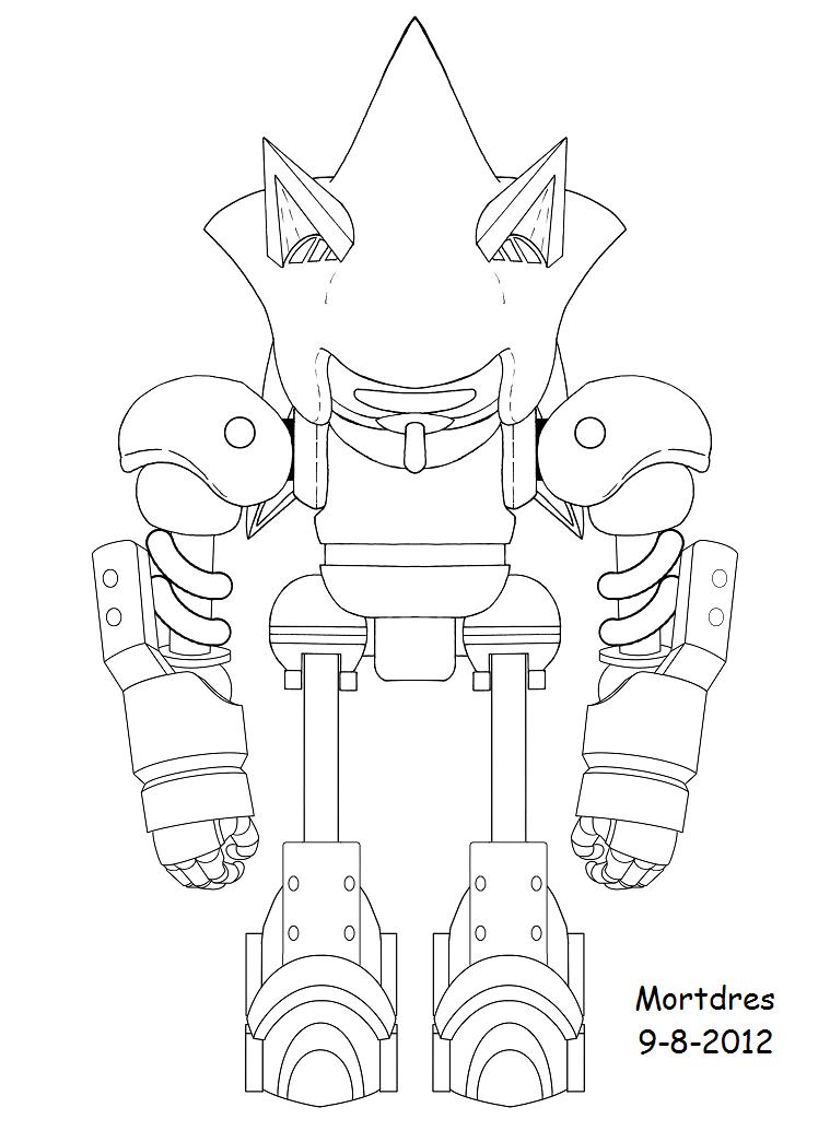 Mecha Sonic Mechanical Metal Monochrome Natsumemetalsonic ...