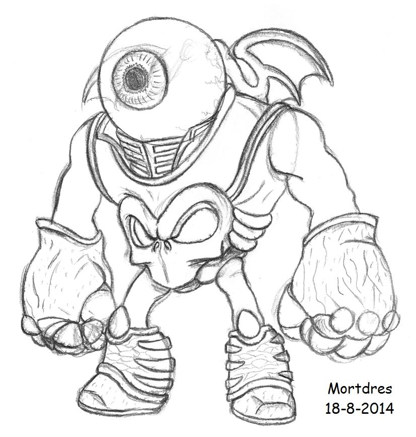 Skylanders roller brawl coloring pages coloring pages for Skylanders giants coloring pages eye brawl