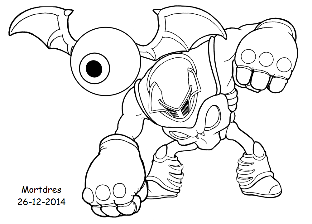 Eye brawl attacking by mortdres on deviantart for Skylanders giants coloring pages eye brawl