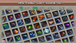 Rpg Pixel Loot Icons #1 32x32