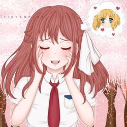 Haruka thinking about Yuu