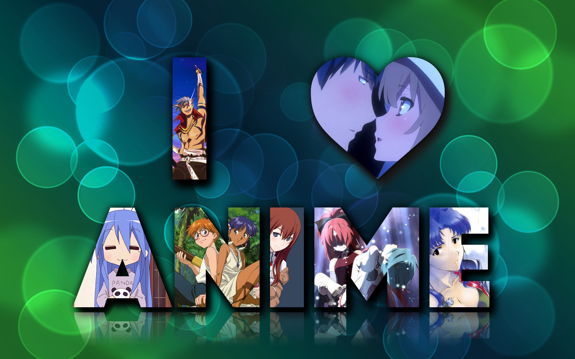 Wallpaper cartoon Anime Love : I love anime wallpaper by alessiole on DeviantArt