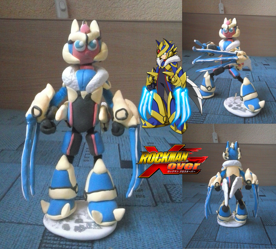 Over 2 Spec 2 - Rockman Xover clay figurine by SMDgamer27