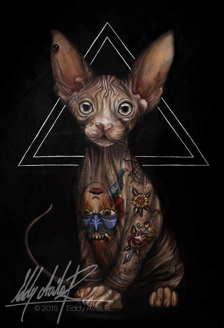 El gato de los tatuajes by eddy-avila-r