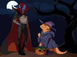 Alphyne Halloween (Collab with MidLuuna)