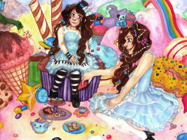 Magical Tea Party of Rainbows and Derp by 7AirGoddess3
