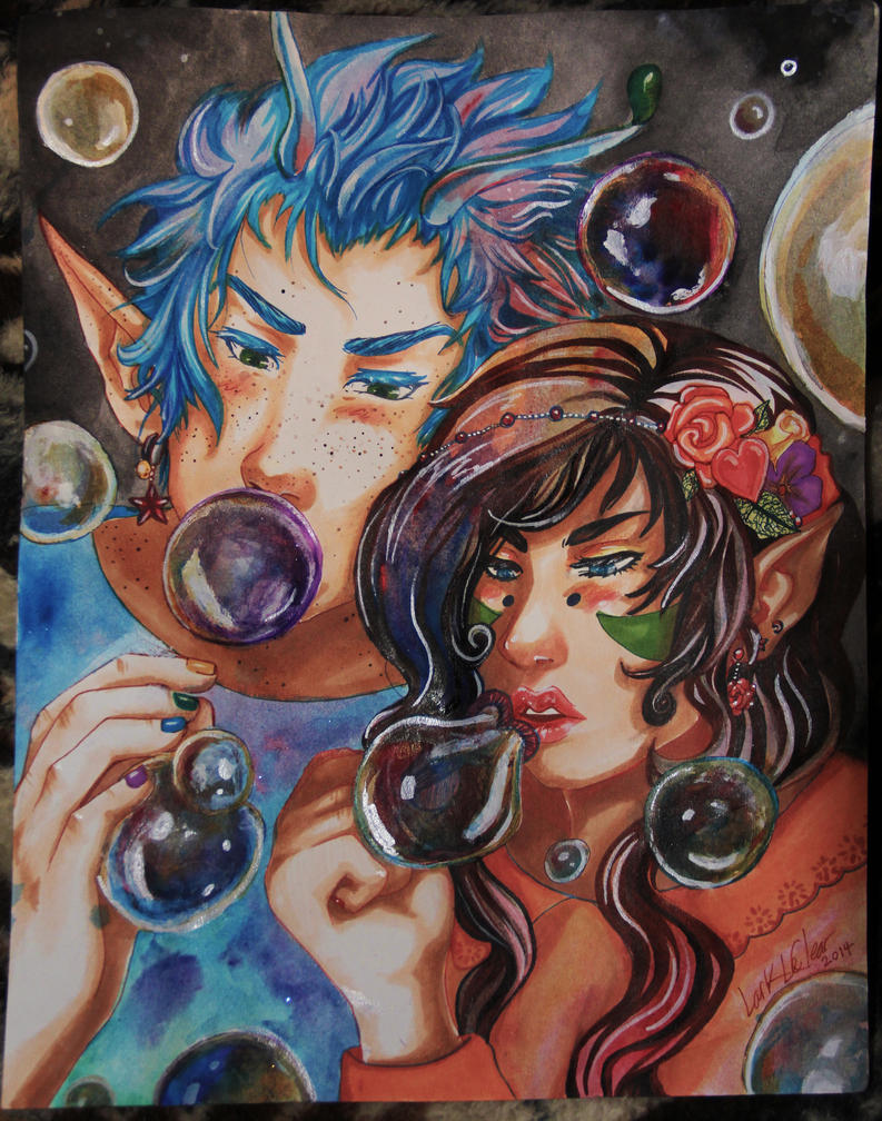 Blowing Bubbles by 7AirGoddess3