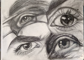 Eye Study - life drawing by 7AirGoddess3