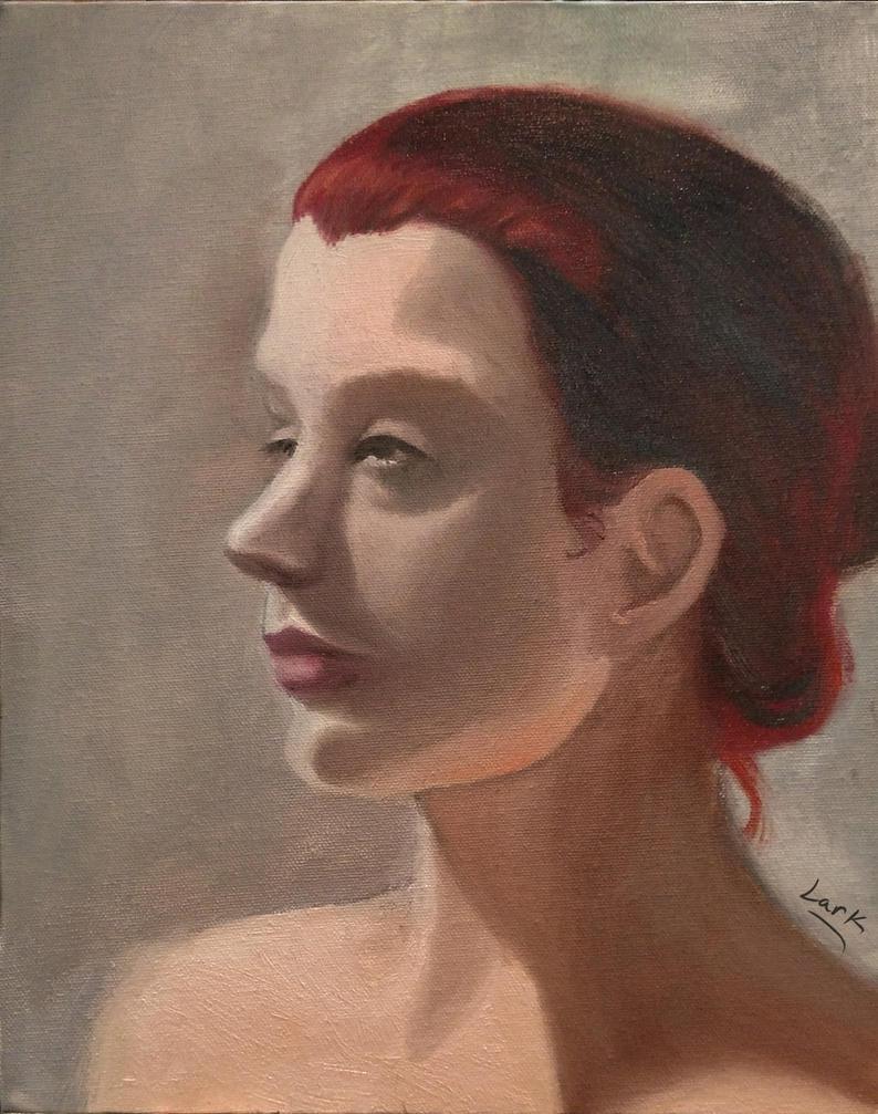 Oil portrait study by 7AirGoddess3