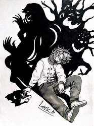 Inktober day 9 - Looming monsters