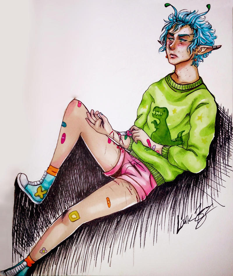 Neon Bandaids by 7AirGoddess3