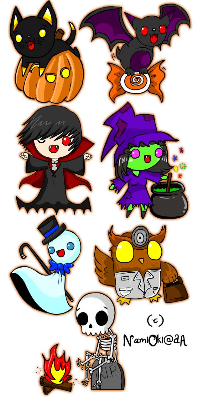Halloween Stickers by NamiOki on DeviantArt