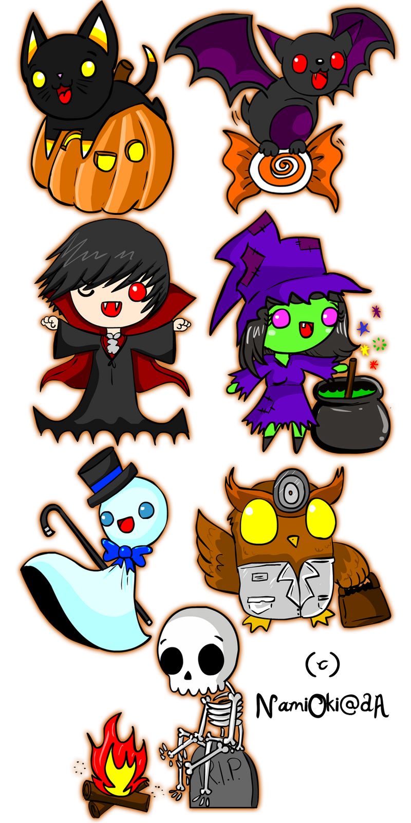 Halloween Stickers by NamiOki Halloween Stickers by NamiOki