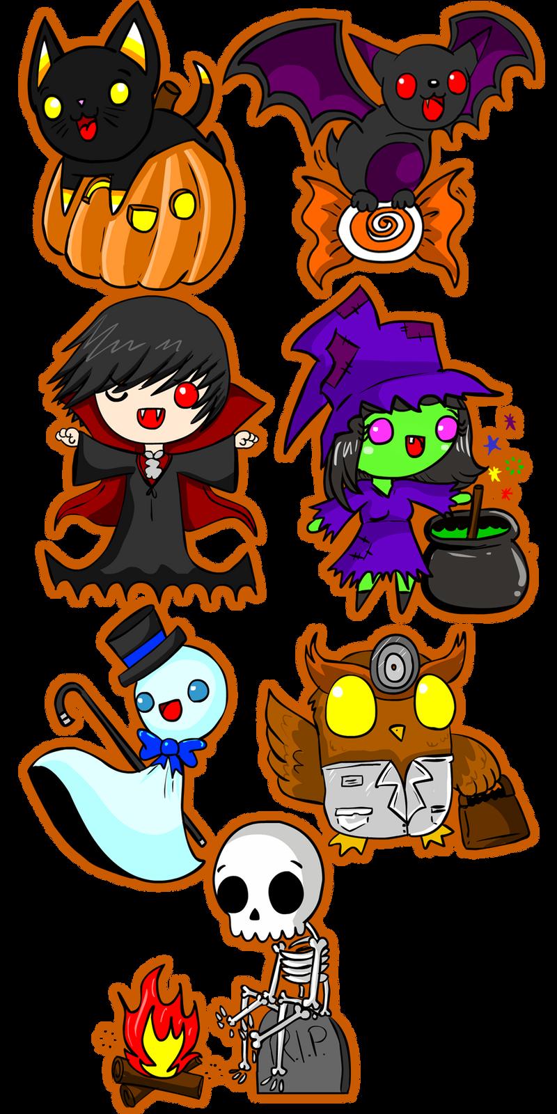 Halloween Stickers by NamiOki Halloween Stickers by NamiOki