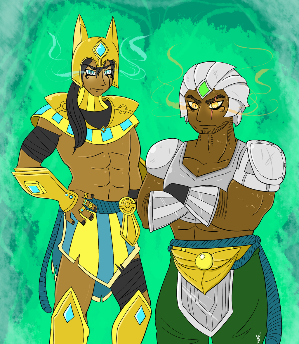 commission nasus and renekton humanized by namioki on