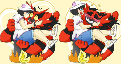 Commission - Incineroar Kiss
