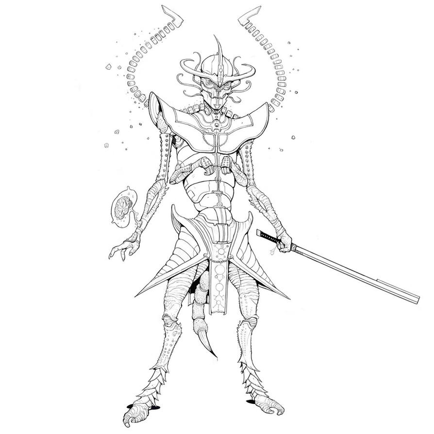 Alien Ronin by Teratophile