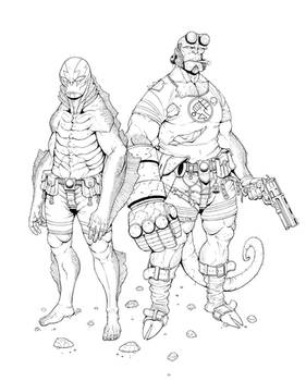 Hellboy and Abe.