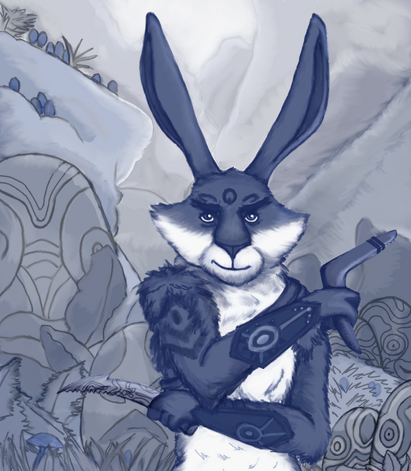 E. Aster Bunnymund by Kindii