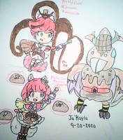 Cure Chocolat and Cure Truffle Fight! (Commsion)