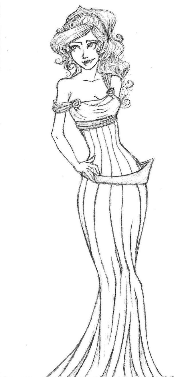 Megara By Thetheatregeek On Deviantart Megara Coloring Pages