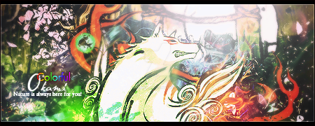 Colorful Okami by ikekill