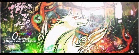 Colorful Okami by ikekill