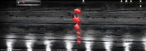 dual wood desktop by hugosilva