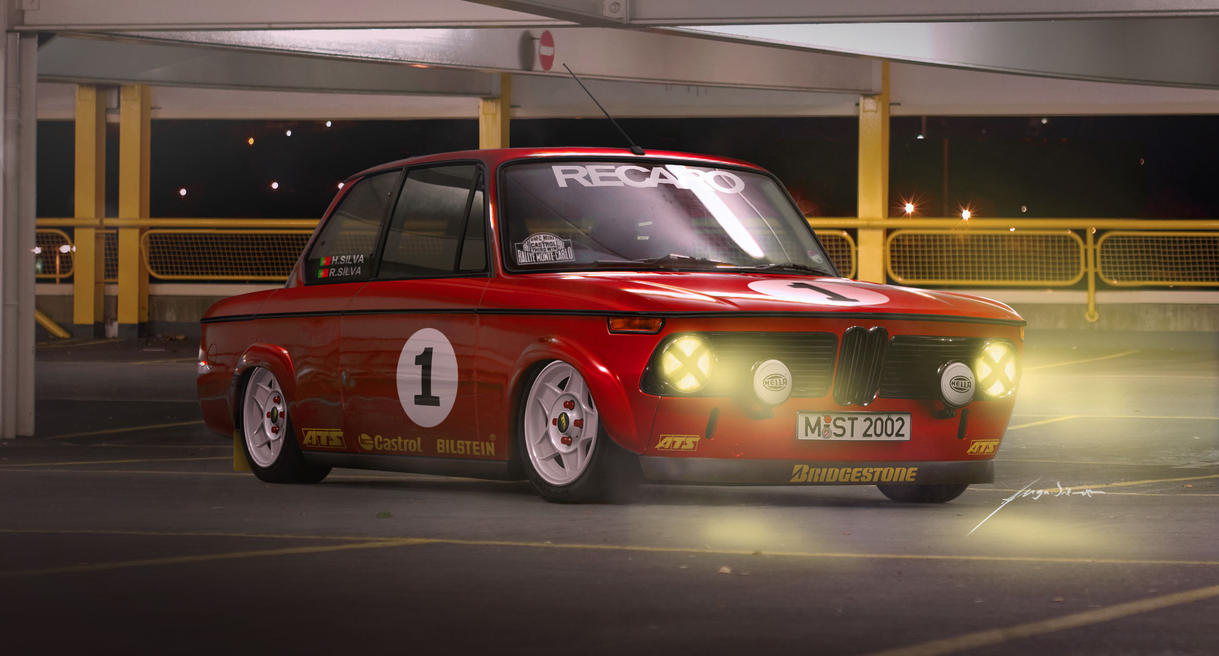 bmw 2002 rally car red by hugosilva