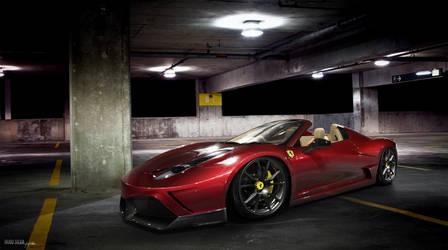 Ferrari 458 spyder red by hugosilva