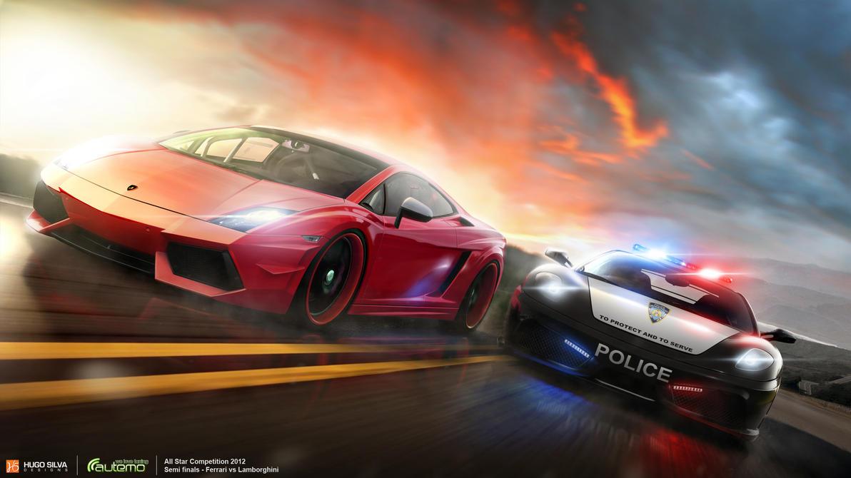 Ferrari vs Lamborghini by hugosilva