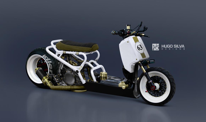 Honda Ruckus Custom By Hugosilva D K Sp on Gy6 150cc Turbo Kit